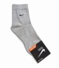 جوراب نیم ساق طرح Nike خاکستری