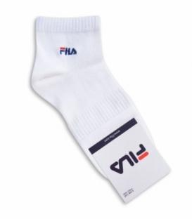 جوراب نیم ساق طرح FILA سفید