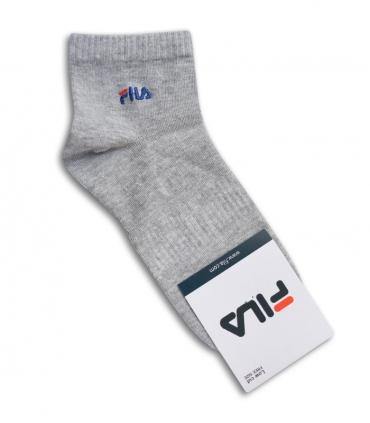 جوراب نیم ساق طرح FILA خاکستری