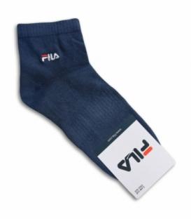 جوراب نیم ساق طرح FILA آبی نفتی