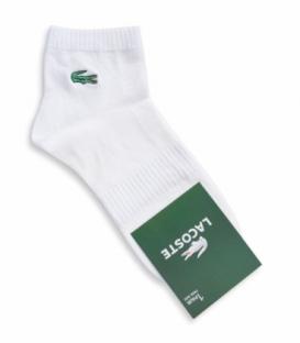 جوراب نیم ساق طرح LACOSTE سفید