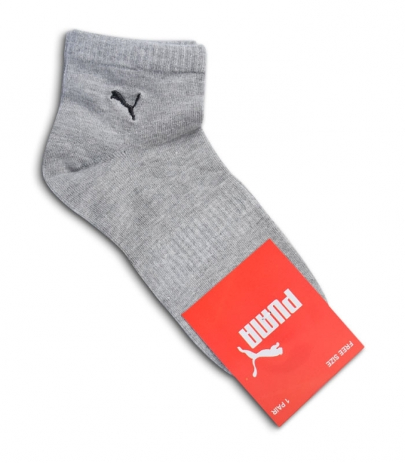 جوراب نیم ساق طرح PUMA خاکستری