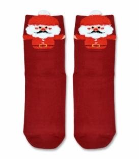 جوراب نیم ساق طرح بابانوئل قرمز