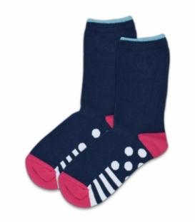 جوراب ساقدار EKMEN طرح هندسی دایره سرمهای