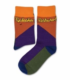 جوراب ساقدار طرح رنگارنگ
