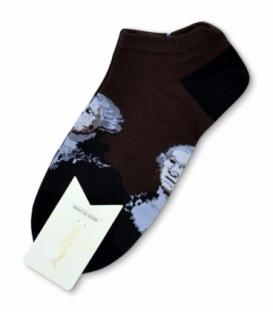 جوراب مچی طرح واشنگتن قهوهای
