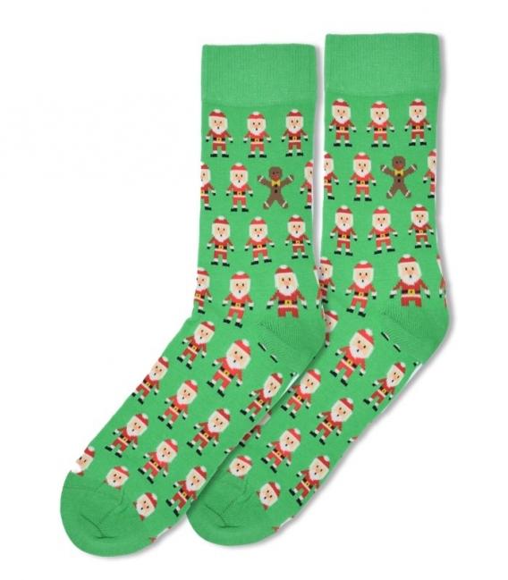 جوراب ساقدار Ekmen طرح بابانوئل سبز
