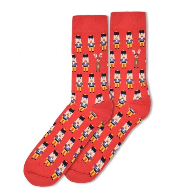 جوراب ساقدار Ekmen طرح سرباز قرمز