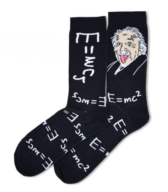جوراب ساقدار Ekmen طرح انیشتین زبان دراز مشکی