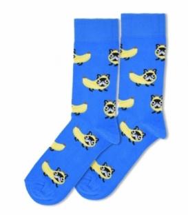جوراب ساقدار Ekmen طرح سگ در لباس موز آبی