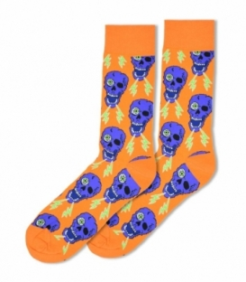 جوراب ساقدار Ekmen طرح اسکلت نارنجی