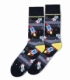 جوراب ساقدار Ekmen طرح فضانوردی خاکستری مشکی