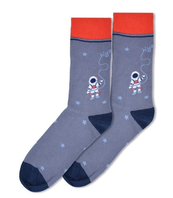 جوراب ساقدار Ekmen طرح فضانورد خاکستری