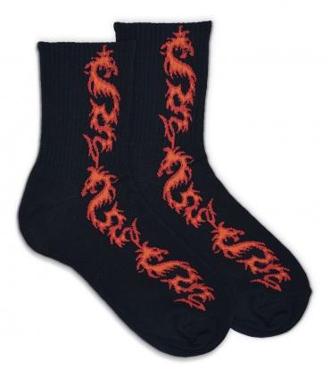 جوراب نیم ساق Ekmen طرح اژدها مشکی