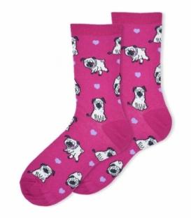 جوراب ساقدار Ekmen اکمن طرح سگ بامزه سرخابی