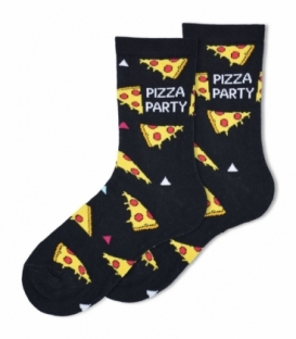 جوراب ساقدار Ekmen طرح مهمونی پیتزا مشکی