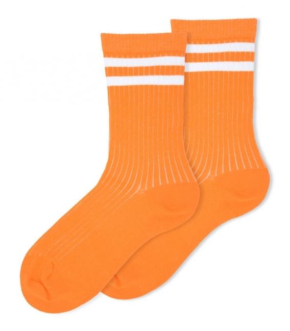 جوراب ساقدار Ekmen طرح دو خط نارنجی