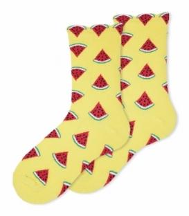 جوراب ساقدار Ekmen اکمن طرح هندوانه زرد