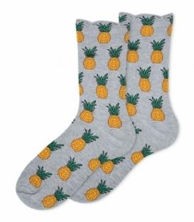 جوراب ساقدار Ekmen طرح آناناس خاکستری