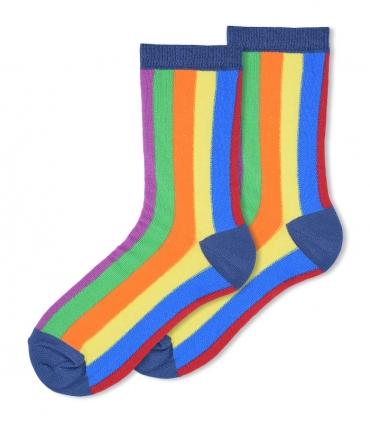 جوراب ساقدار Ekmen طرح راه راه رنگارنگ