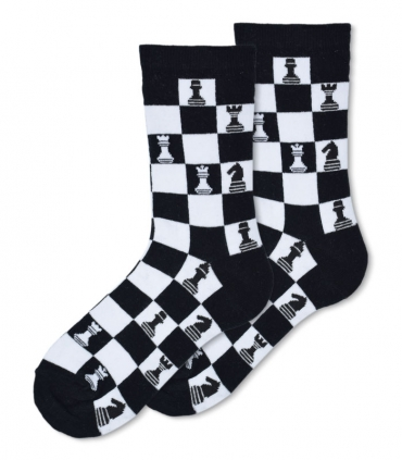 جوراب ساقدار Ekmen طرح شطرنج مشکی