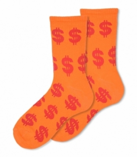جوراب ساقدار Ekmen اکمن طرح دلار نارنجی