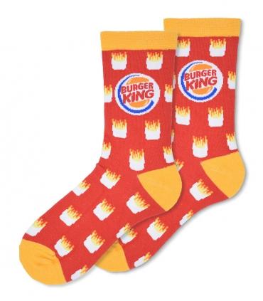 جوراب ساقدار Ekmen طرح سیب زمینی Burger King قرمز
