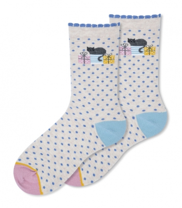 جوراب ساقدار Ekmen طرح هدیههای گربه کرم