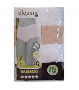 شورت زنانه elegant بامبو فاق بلند آنتی باکتریال کد 316 - بسته 4 عددی