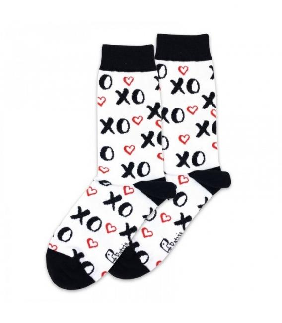 جوراب ساقدار پاتریس طرح XO سفید