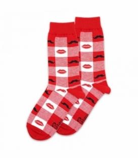 جوراب ساقدار پاتریس طرح لب قرمز