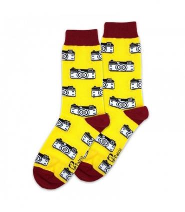 جوراب ساقدار پاتریس طرح دوربین زرد