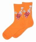 جوراب ساقدار Ekmen اکمن طرح نوشابه خوشحال نارنجی