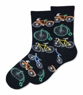 جوراب ساقدار Ekmen اکمن طرح دوچرخه مشکی