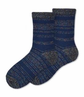جوراب ساقدار Ekmen اکمن طرح لمه راه راه سرمهای
