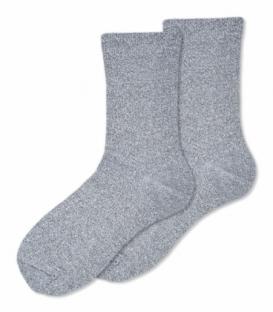 جوراب ساقدار Ekmen اکمن طرح لمه خاکستری