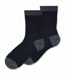 جوراب ساقدار Ekmen اکمن طرح پاشنه لمه مشکی