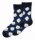 جوراب ساقدار Ekemn طرح نیمرو سرمهای