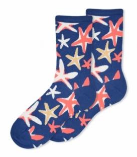 جوراب ساقدار Ekmen اکمن طرح ستاره دریایی آبی نفتی