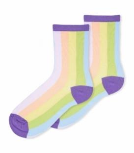 جوراب ساقدار Ekmen اکمن طرح راه راه رنگارنگ