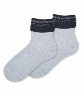 جوراب نیم ساق Ekmen اکمن طرح ساق حولهای خاکستری