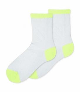 جوراب توری نیم ساق Ekmen اکمن طرح لمه نقرهای سبز فسفری