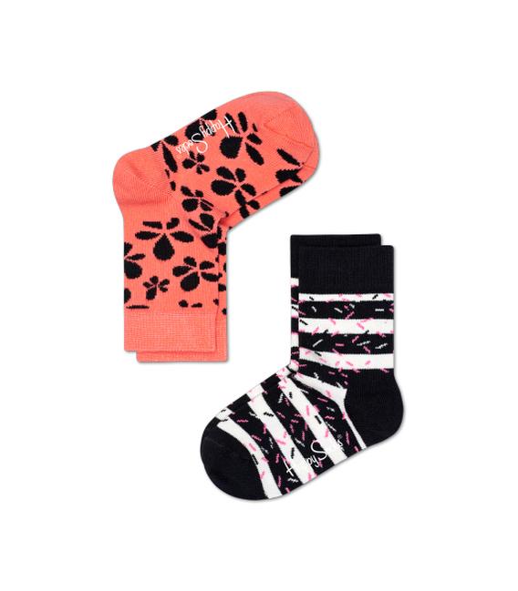 دو جفت جوراب Happy Socks هپی ساکس طرح Flower