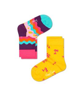 دو جفت جوراب Happy Socks هپی ساکس طرح Soda Pop