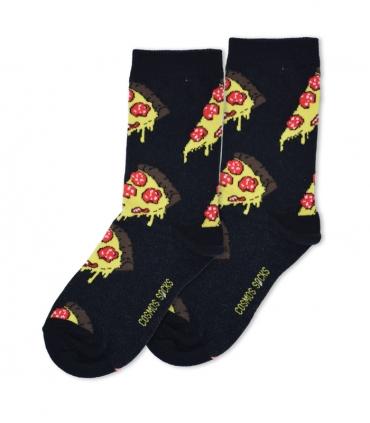 جوراب ساقدار Cosmos کازموس طرح پیتزا مشکی