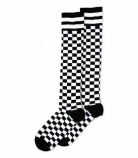 جوراب زیرزانو Ekmen اکمن طرح شطرنجی سفید، مشکی