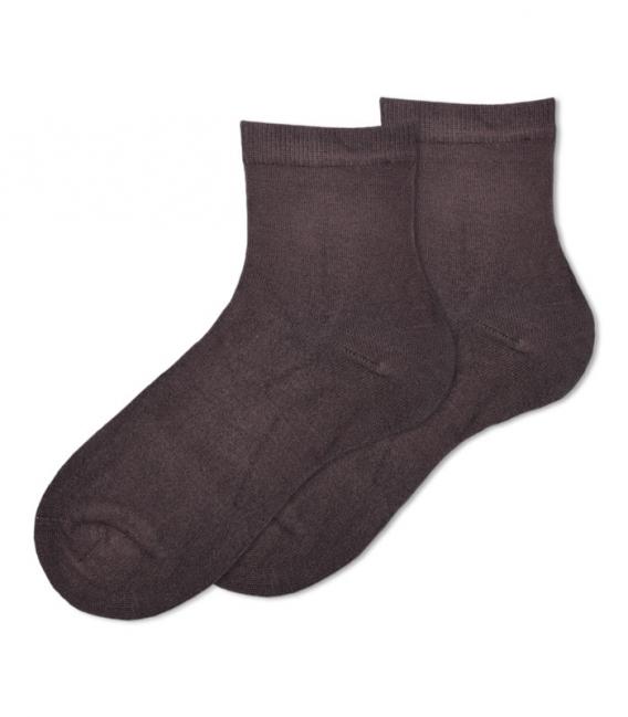 جوراب بامبو نیم ساق Ekmen ساده قهوهای