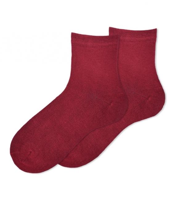 جوراب بامبو نیم ساق Ekmen ساده زرشکی
