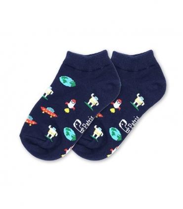 جوراب بچگانه نانو پاتریس طرح کهکشان سرمهای