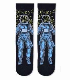 جوراب ساقدار Cosmos کازموس طرح فضانورد مشکی